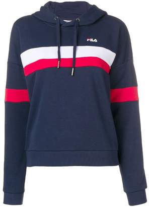 Fila contrast stripe hoodie