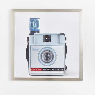 Pottery Barn Teen Oversized Camera Framed Art, 40&quotx40&quot