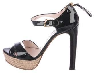 Miu Miu Patent Platform Sandals