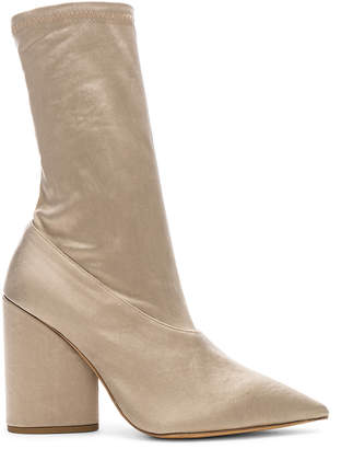 ab662f0be01 Yeezy Season 7 Stretch Satin Ankle Bootie in Military Light