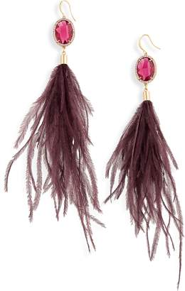 Stella + Ruby Feather Shoulder Duster Earrings