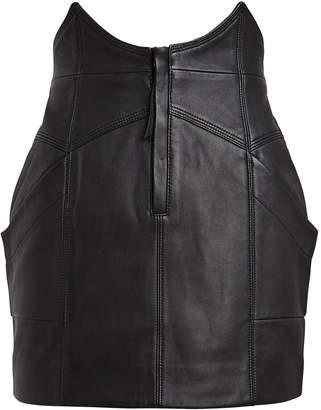 retrofete Fae Leather Mini Skirt