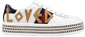 Gucci Women's New Ace Leather Platform Sneakers - White