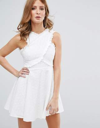 Millie Mackintosh White Broderie Anglasie Dress