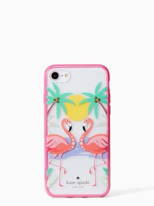 Kate Spade Jeweled flamingo iphonecase