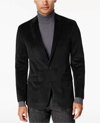Kenneth Cole Reaction Men's Slim-Fit Micro-Grid Velvet Dinner Jacket