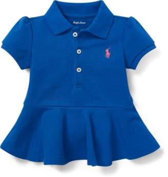 Ralph Lauren Cotton Pique Peplum Polo Shirt
