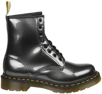 Dr. Martens Anfibio In Synthetic Leather Steel Color