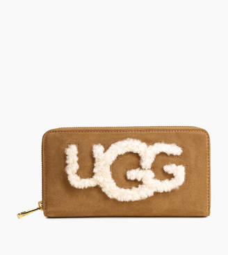 UGG Women's Honey Zip Sheepskin Wallet