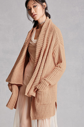FOREVER 21+ Chunky Draped Cardigan $48 thestylecure.com