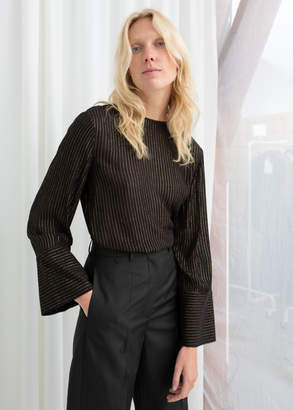 And other stories Glitter Pinstripe Blouse