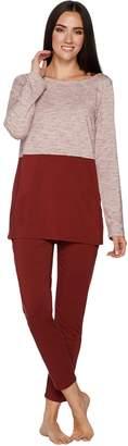Anybody AnyBody Loungewear Cozy Knit Color Block Pajama Set