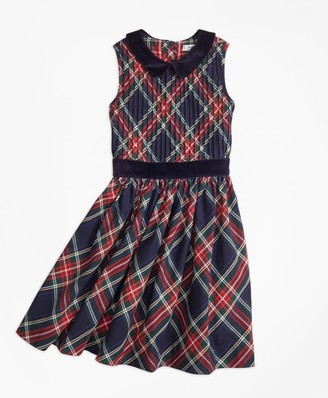 Brooks Brothers Girls Sleeveless Holiday Plaid Dress