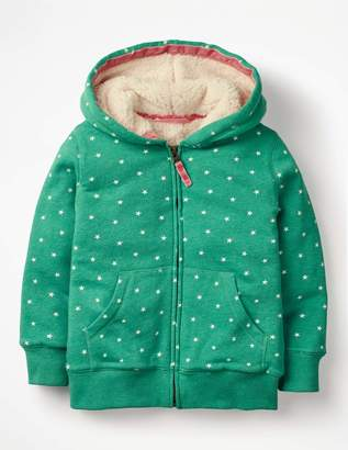 Boden Printed Shaggy-lined Hoodie