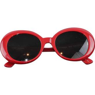 Saint Laurent Red Plastic Sunglasses