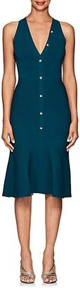 Narciso Rodriguez Women's Rib-Knit Flared Button-Front Dress - Teal
