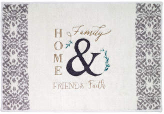 "Avanti Modern Farmhouse Cotton Embroidered 20"" x 30"" Bath Rug Bedding"