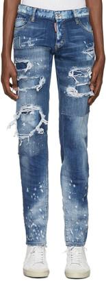Dsquared2 Blue Slim Jeans $775 thestylecure.com