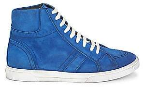 Saint Laurent Men's Joe Suede High-Top Sneakers