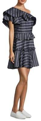 Grettel One-Shoulder Ruffle Dress