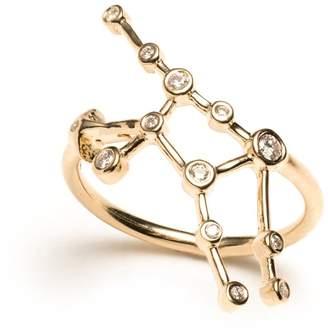 Lulu Frost Zodiacs 14k & Diamond Virgo + Earth Ring