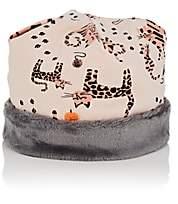 The Bonnie Mob Infants' Cat-Print Organic Cotton Beanie-Pink