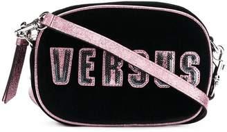 Versus sequined logo crossbody bag