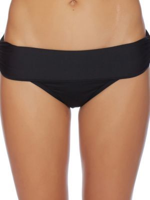 Luxe by Lisa Vogel Solid Banded Bikini Bottom $58 thestylecure.com