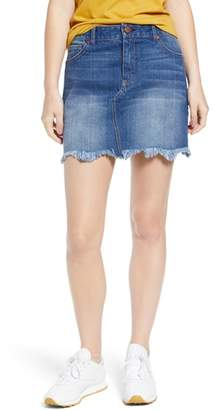 1822 Denim Raw Hem Denim Miniskirt