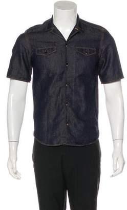 Burberry Linen-Blend Denim Shirt
