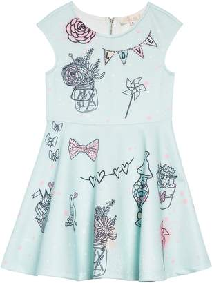 Truly Me Whimsy Embellished Fit & Flare Dress