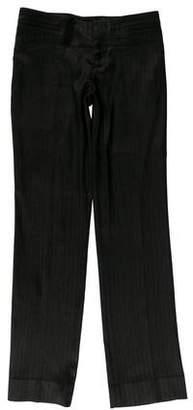 Gucci Herringbone Straight-Leg Pants