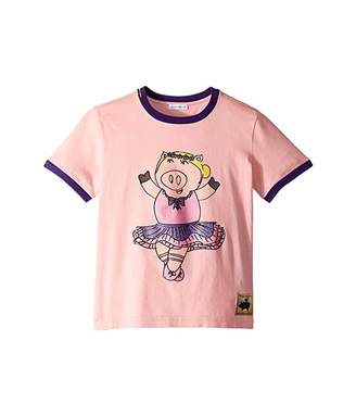 Dolce & Gabbana Ballerina Piggie T-Shirt (Big Kids)