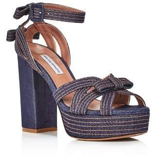 Tabitha Simmons Women's Goldy Denim Platform High-Heel Sandals