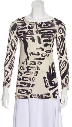 Emilio Pucci Long Sleeve Knit Top