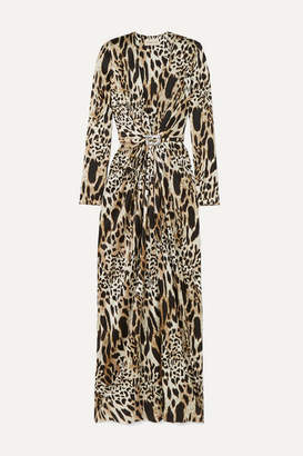 Alexandre Vauthier Crystal-embellished Animal-print Stretch-silk Satin Gown - Leopard print