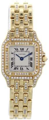 Panthere 1280 2 18K Yellow Gold with Diamonds Quartz 23mm Womens Watch