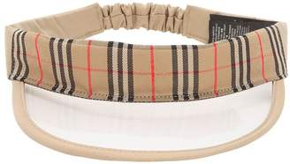 Burberry Transparent Check Canvas Visor