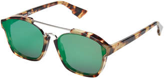 Christian Dior Abstract 00F9S Light Tortoiseshell-Look Square Sunglasses