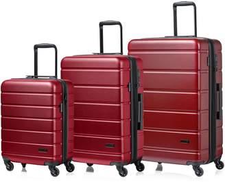 Champs Madison 3-Piece Hardside Spinner Luggage Set