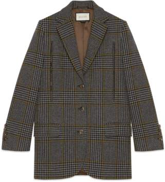 Gucci Prince of Wales cape jacket
