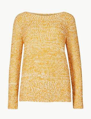 Marks and Spencer Textured Round Neck Jumper
