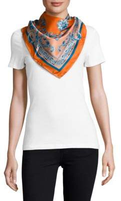 VersaceCarre Printed Square-Shaped Foulard Scarf