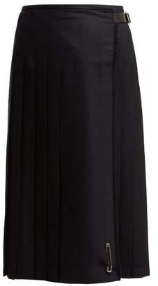 Le Kilt - Lisa 72cm Pleated Wool Kilt - Womens - Navy