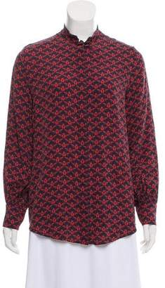 Mother of Pearl Long Sleeve Silk Blouse
