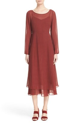 Women's Tracy Reese Crinkled Silk Georgette Midi Dress $398 thestylecure.com