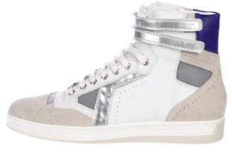 Christian Dior Metallic-Trimmed Sneakers