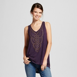 Knox Rose Women's Knit Tank with V-Neck Embellishment $19.99 thestylecure.com