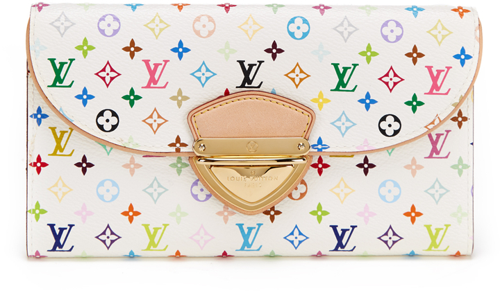 Louis Vuitton White Multi-Color Eugenie Wallet