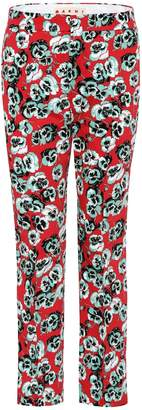Marni Printed cotton-blend trousers